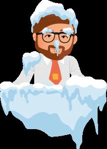 Jean Gelé dans la glace